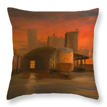 Terminal Transfer Throw Pillow by Christopher Jenkins