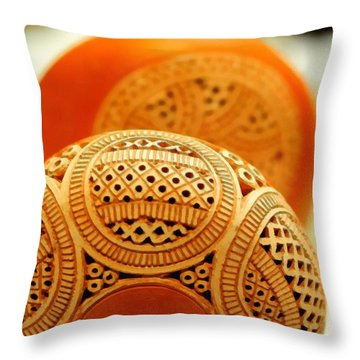 Terracotta Lampshade Throw Pillow