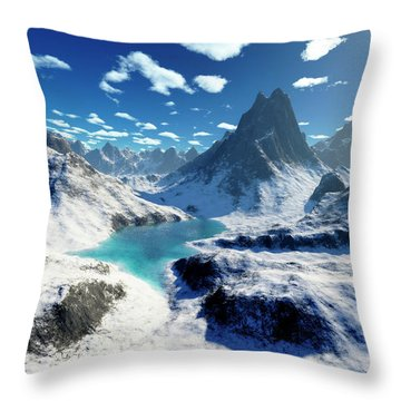 Terragen Render Of An Imaginary Throw Pillow by Rhys Taylor