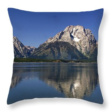 Teton Panoramic View Throw Pillow by Marty Koch