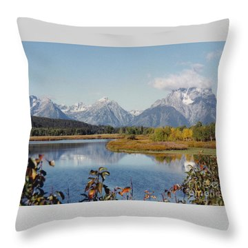 Tetons Reflection Throw Pillow