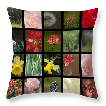 Texas Beauties Throw Pillow