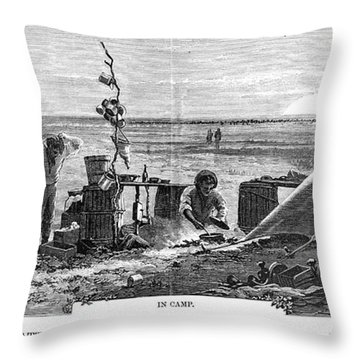 Texas Cattle Trade, 1874 Throw Pillow by Granger