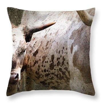 Texas Longhorns Throw Pillow by Betty LaRue