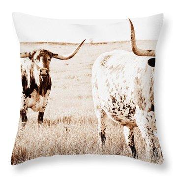 Texas Pair Throw Pillow by Elizabeth Hart