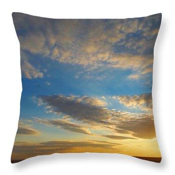 Texas Sized Sunset Throw Pillow