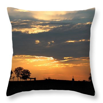 Throw Pillow featuring the photograph Texas Sized Sunset by Kathy  White