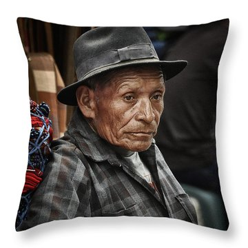 Textile Merchant Throw Pillow by Tom Bell