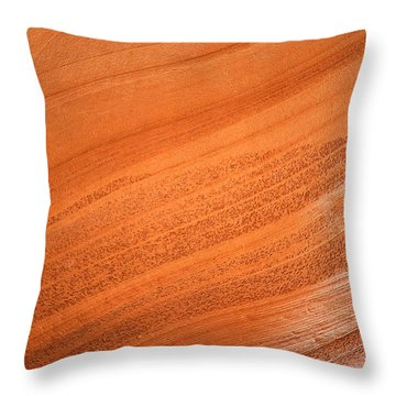 Texture And Light - Antelope Canyon Throw Pillow by Christine Till