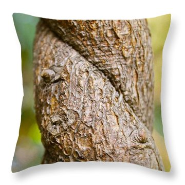 Tree Texture Throw Pillow