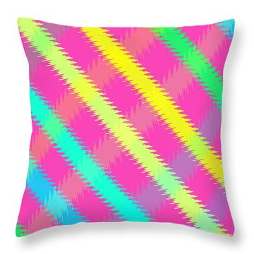 Textured Check Throw Pillow by Louisa Knight