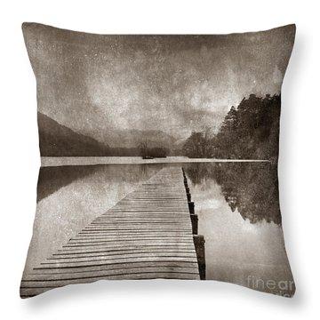 Textured Lake Throw Pillow by Bernard Jaubert