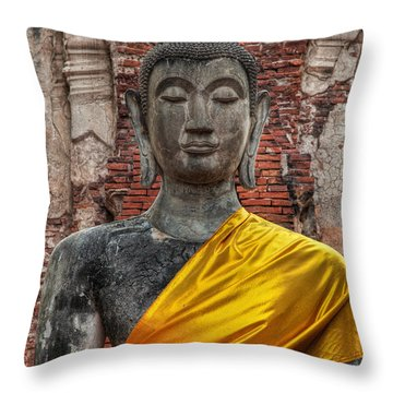 Throw Pillow featuring the photograph Thai Buddha by Adrian Evans