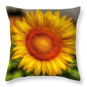 Thai Sunflower Throw Pillow by Adrian Evans