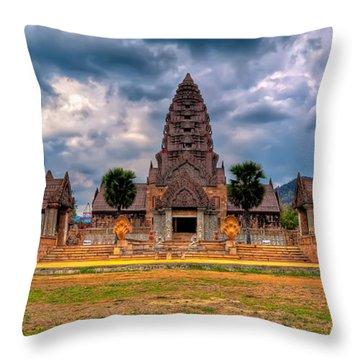 Thai Temple Throw Pillow by Adrian Evans