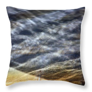 Thames Reflections Throw Pillow