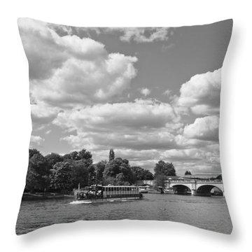 Throw Pillow featuring the photograph Thames River Cruise by Maj Seda