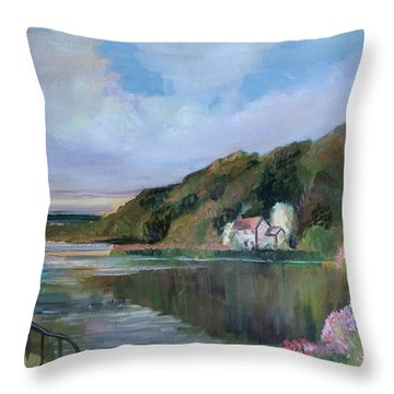 Thames River England By Mary Krupa Throw Pillow