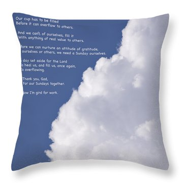 Thanks For Sundays Throw Pillow