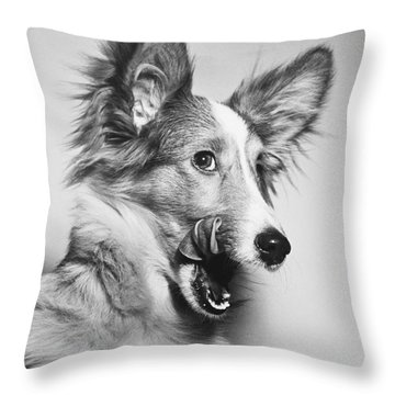 That Looks Good Throw Pillow by M E Browning and Photo Researchers