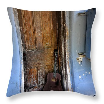 That Old Guitar Throw Pillow by Bill Cannon