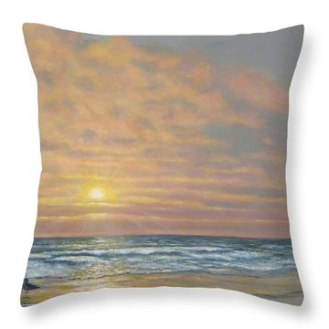 That Razzle Dazzle Time Of Day Throw Pillow by Kathleen McDermott