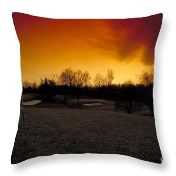 The 19th Hole Throw Pillow by Guy Harnett