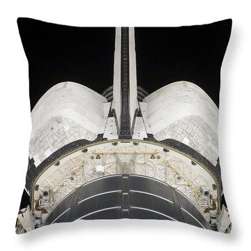 The Aft Portion Of The Space Shuttle Throw Pillow by Stocktrek Images