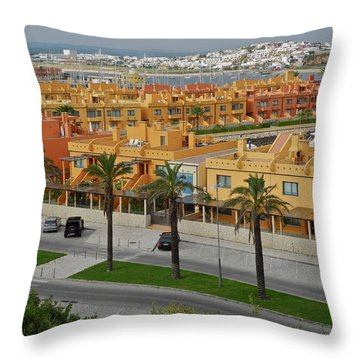 The Algarve In Portugal Throw Pillow by Kirsten Giving