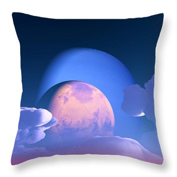 Throw Pillow featuring the digital art The Alignment... by Tim Fillingim