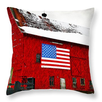 The American Dream Throw Pillow by Bill Cannon