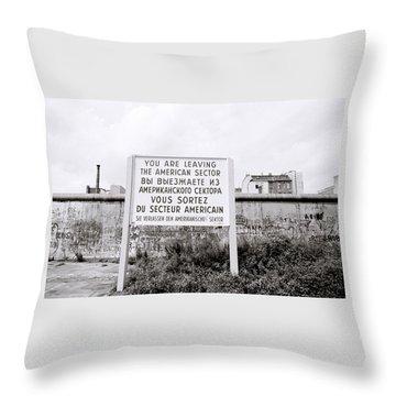 Berlin Wall American Sector Throw Pillow