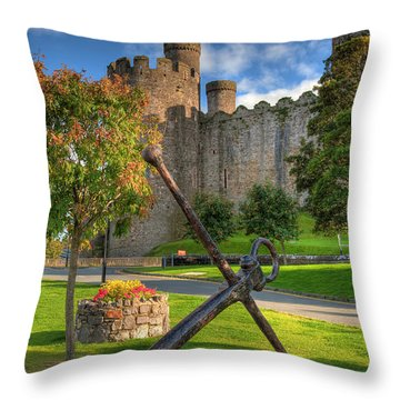 The Anchor Throw Pillow by Adrian Evans