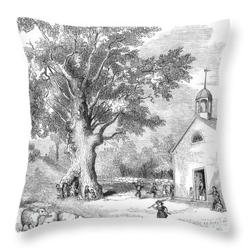 The Ancient Oak Throw Pillow by Granger