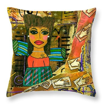 The Angel Of Fond Memories Throw Pillow by Angela L Walker