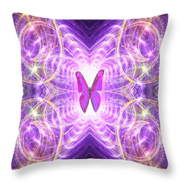 The Angel Of Wishes Throw Pillow
