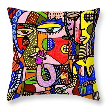 The Art Of Flirting Throw Pillow