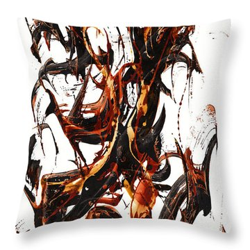The Art Of Languishing Liquidly Well  22.120110 Throw Pillow
