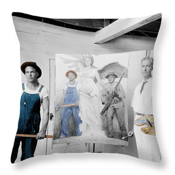 The Artist Throw Pillow by Andrew Fare