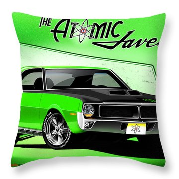 The Atomic Javelin Throw Pillow
