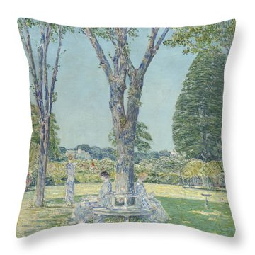 The Audition Throw Pillow by Childe Hassam