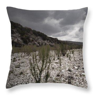 The Bank Of The Nueces River Throw Pillow