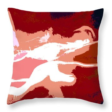 The Baseball Pitcher Throw Pillow by David Lee Thompson