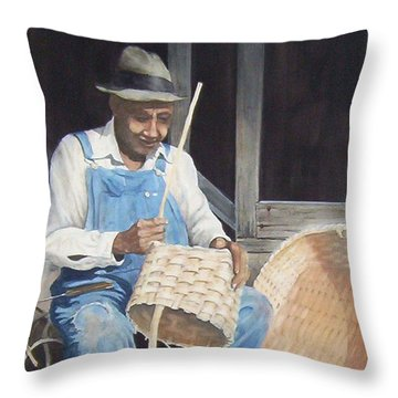 The Basket Maker ...sold  Throw Pillow