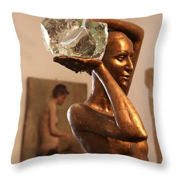 The Bather Throw Pillow