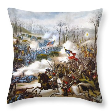 The Battle Of Pea Ridge, Throw Pillow by Granger