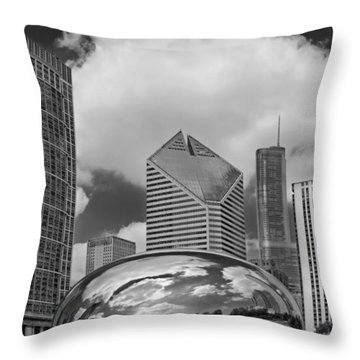 The Bean Chicago Illinois Throw Pillow