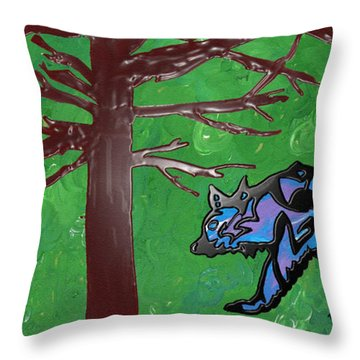 the bears of Canada Throw Pillow by Robert Margetts
