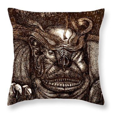 The Beast On The Ceiling Throw Pillow
