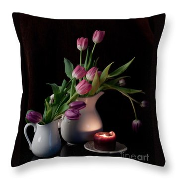 The Beauty Of Tulips Throw Pillow